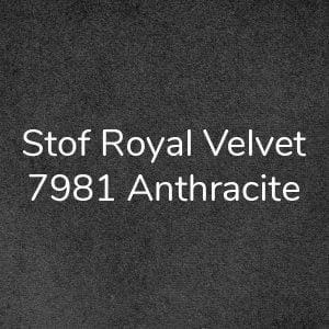 Stof Royal Velvet 7981 Anthracite