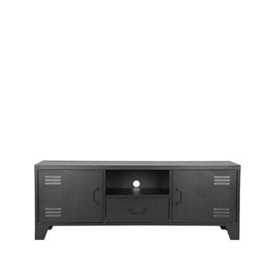 LABEL51 - Tv-Meubel_Fence_Zwart_Metaal_150x40x55_cm_Voorkant