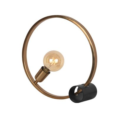 LABEL51 tafellamp ring antiek goud metaal 38x12x38 cm perspectief